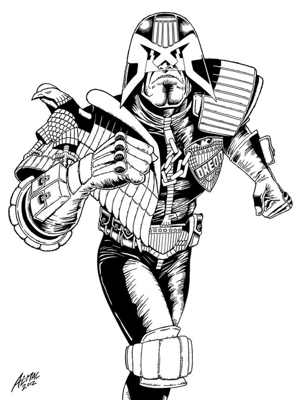 Dredd after Mike McMahon by allistermac