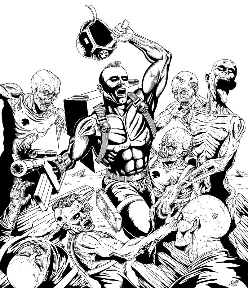 Rogue Trooper - Zombie Apocalypse by allistermac