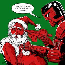 Judge Dredd Vs Santa