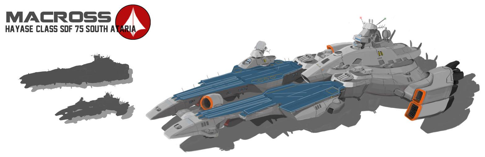 Hayase-class SDF (SDF-75 South Ataria) by Shoguneagle