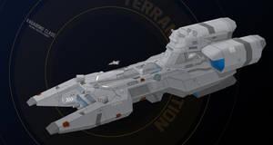 Vagabond-class patrol starfighter carrier by Shoguneagle