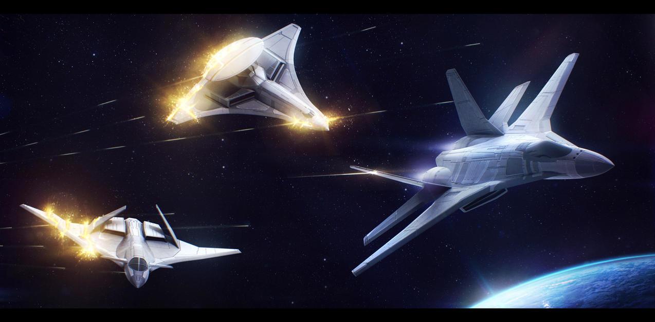 Trio under fire! by Shoguneagle
