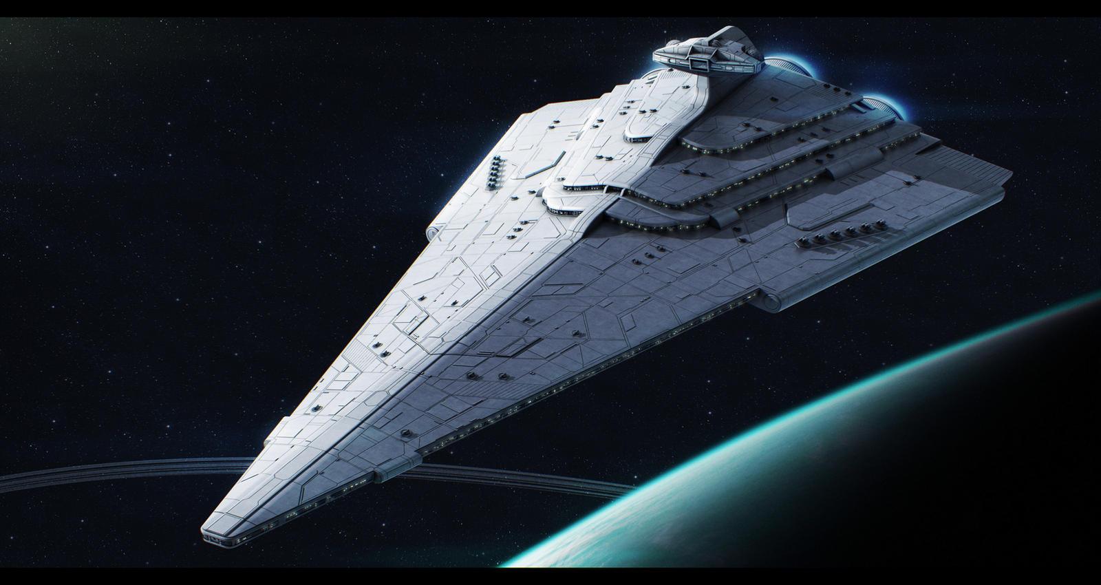 Rendili StarDrive Victory-III-class star destroyer by Shoguneagle