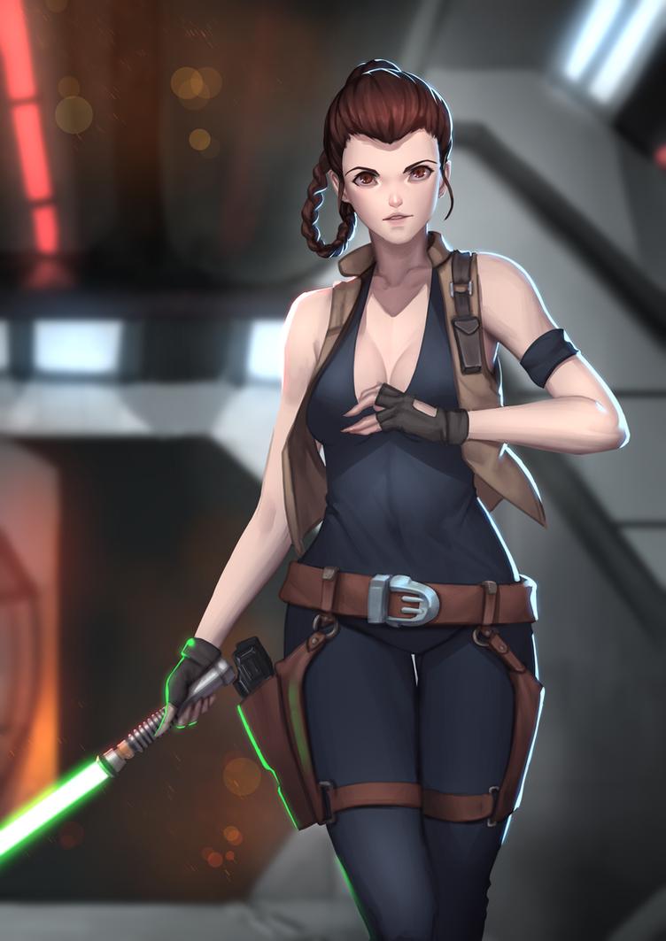 Jedi Aspirant Leia Organa by Shoguneagle
