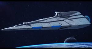 Rendili StarDrive Liberty-class Star Defender by Shoguneagle