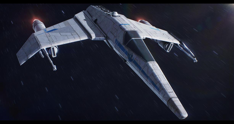 FreiTek T-68A E-Wing by Shoguneagle