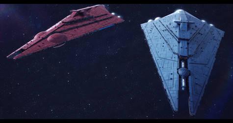 Imperator-II Star Destroyers Basilisk and Chimaera