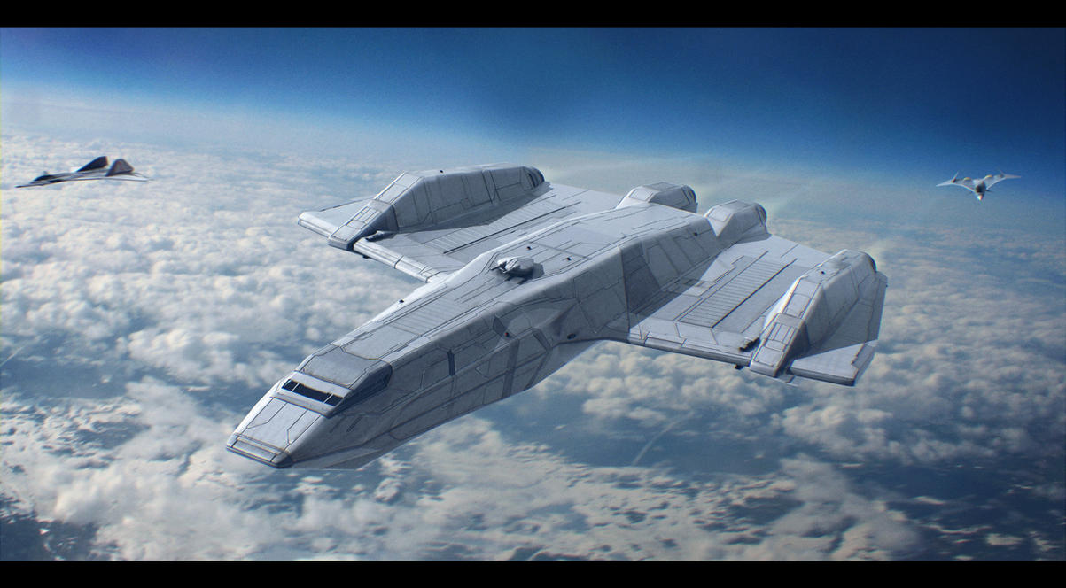 Quickdraw-class tactical stealth gunship by Shoguneagle