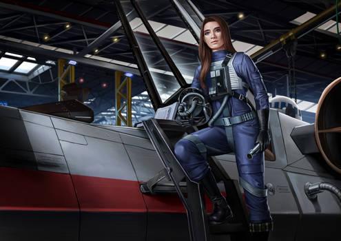 Flight Officer Rianni Losator, starfighter pilot