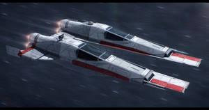 Incom T-71 Trill starfighter by Shoguneagle