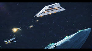 MC85 versus Imperator-II-class star destroyer