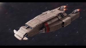 CorelliSpace CSL-232 light freighter by Shoguneagle