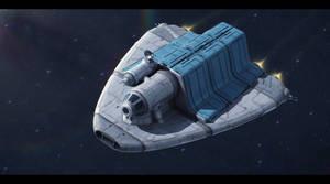 Nova-Drive 5-T medium freighter by Shoguneagle