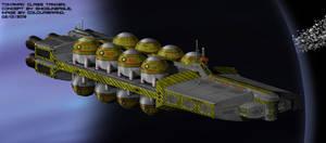 Tokamak-class bulk deuterium/helium-3 tanker