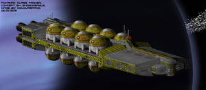Tokamak-class bulk deuterium/helium-3 tanker by Shoguneagle