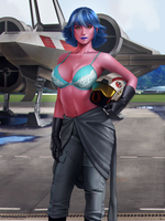 Lieutenant Zella Rerre alternate by Shoguneagle