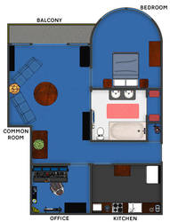 Coruscant/Core World skyrise apartment floorplan by Shoguneagle