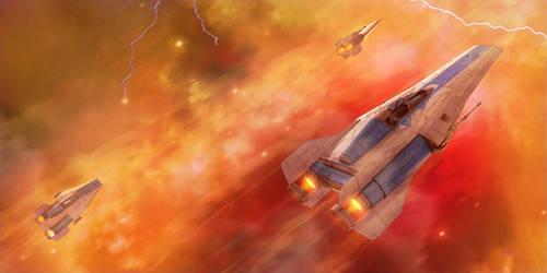 Azure Flight, Fiery Peril by Shoguneagle