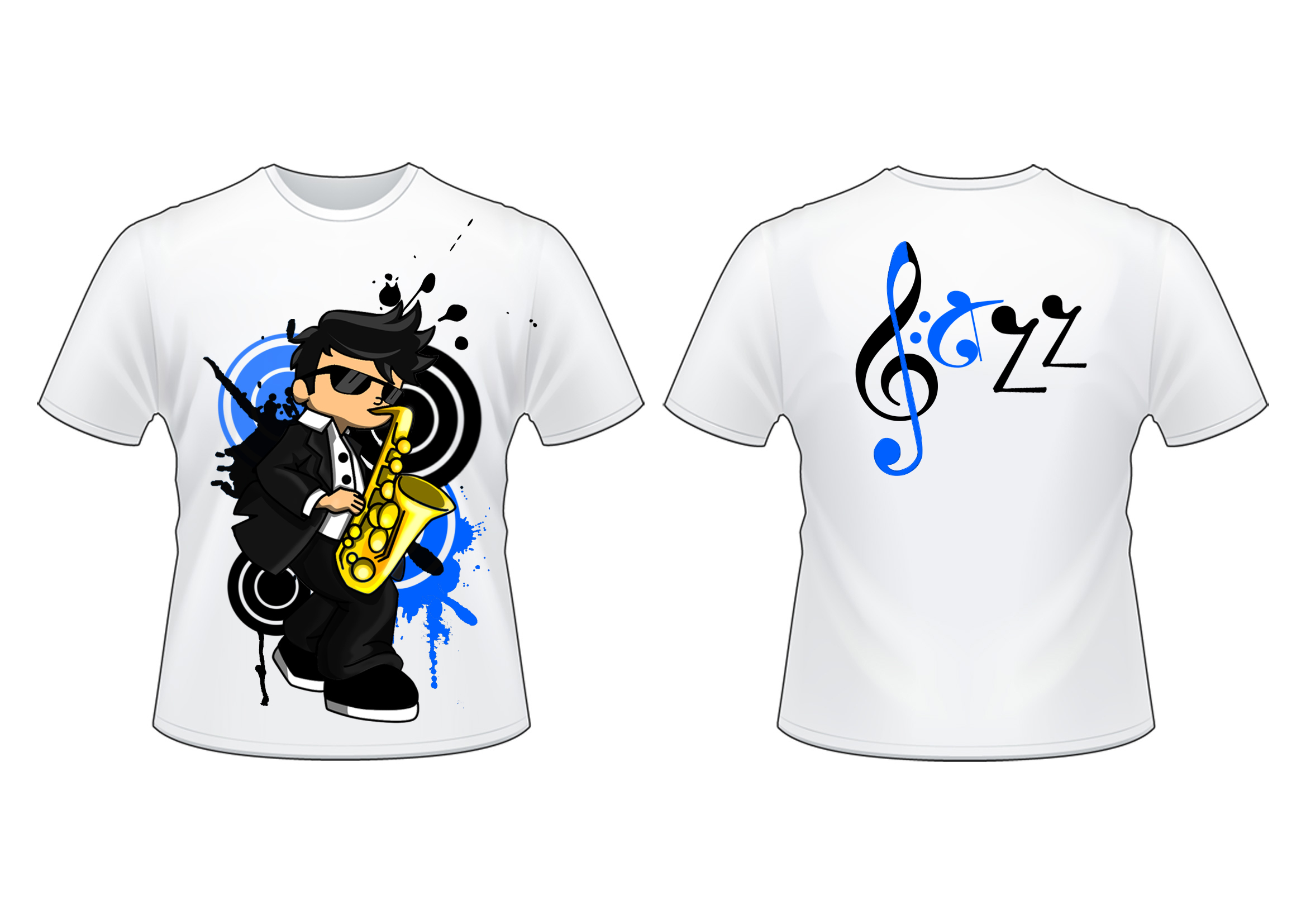 T shirt design jazz by timhansen on deviantart for T shirt printing in palmdale ca