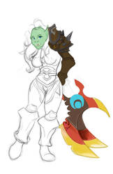 Female Orc - In Progress by Miken101