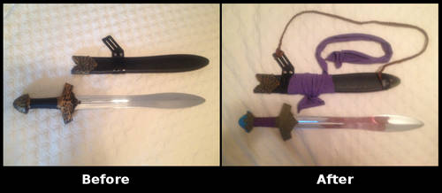 Kyle Dunamis' Iron Sword - Before and After