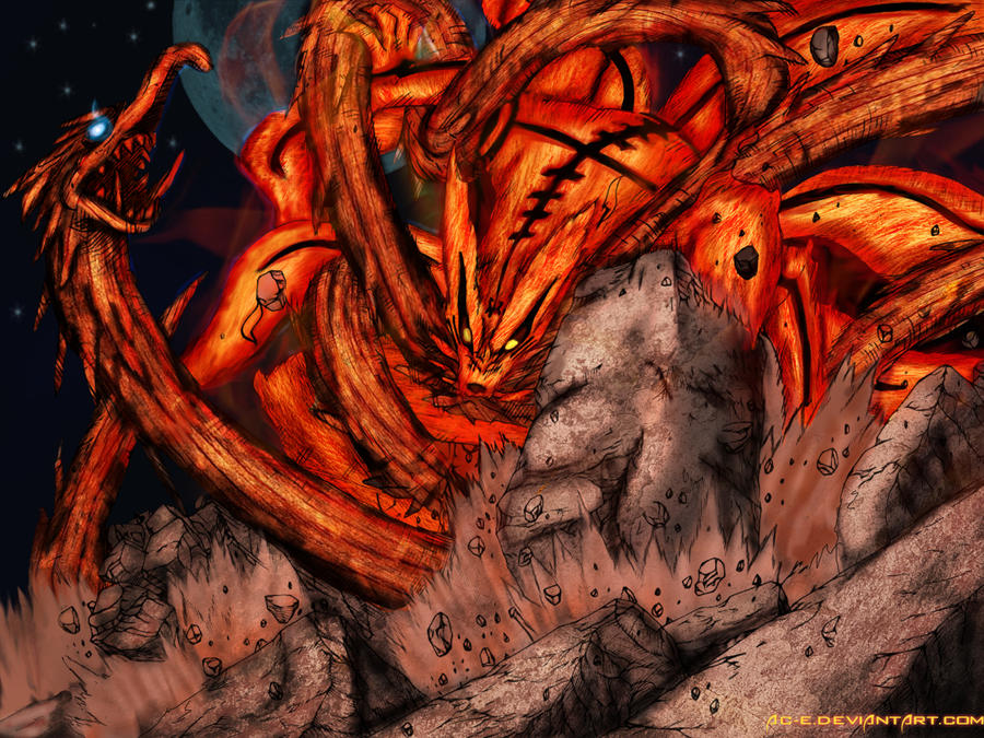 Kyuubi Vs Wood Dragon by Ac-e Kyuubi Vs Juubi Full Fight