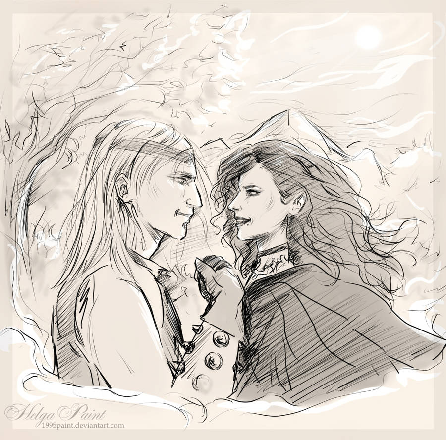 Romantic sketch by 1995paint