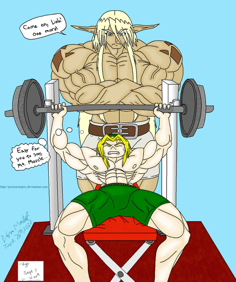 Work Out Buddies Colored by Poison-Stripes