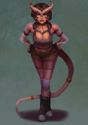 Tiefling Character Comm by Chacobo