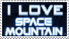 I Love Space Mountain Stamp by Brinatello