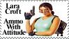 Lara Croft Stamp by Brinatello