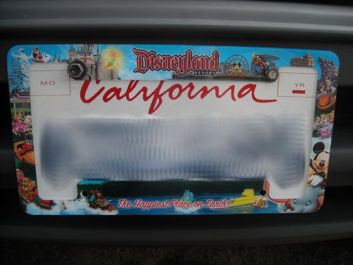 disney license plate frame by brinatello on deviantart - Disney License Plate Frame