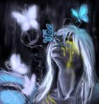 (Art trade) Hakumo the buterfly demon