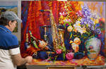 Still Life Oil Painting on Canvas by Leon Devenice