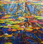 Water lilies by Leon Devenice