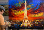 A night in Paris by Leon Devenice