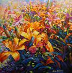 Floral art painting by Leon Devenice