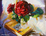 A Love Story Oil Painting by Leon Devenice