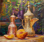 Copper and Gold  Oil painting by Leon Devenice