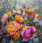 Flowers of the wind  floral art by Leon Devenice by leondevenice