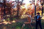 Landscape painting  , Leon devenice