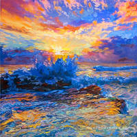 sunset painting , painting for sale ,Leon Devenice by leondevenice