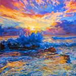 sunset painting , painting for sale ,Leon Devenice