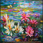 Floral art, floral painting, Leon Devenice