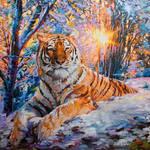 Tiger art, tiger painting , Leon Devenice