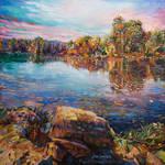 landscape art , landscape painting, Leon Devenice