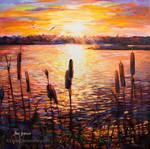 art for sale , landscape painting , leon devenice