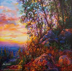 Art for sale , landscape painting, Leon Devenice by leondevenice