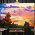 landscape paintings, art for sale , Leon Devenice