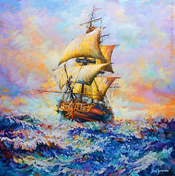 Ship art , Ship painting ,Leon Devenice